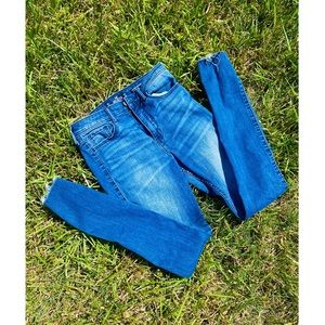 HOLLISTER High Rise Patch Distressed Skinny Jeans